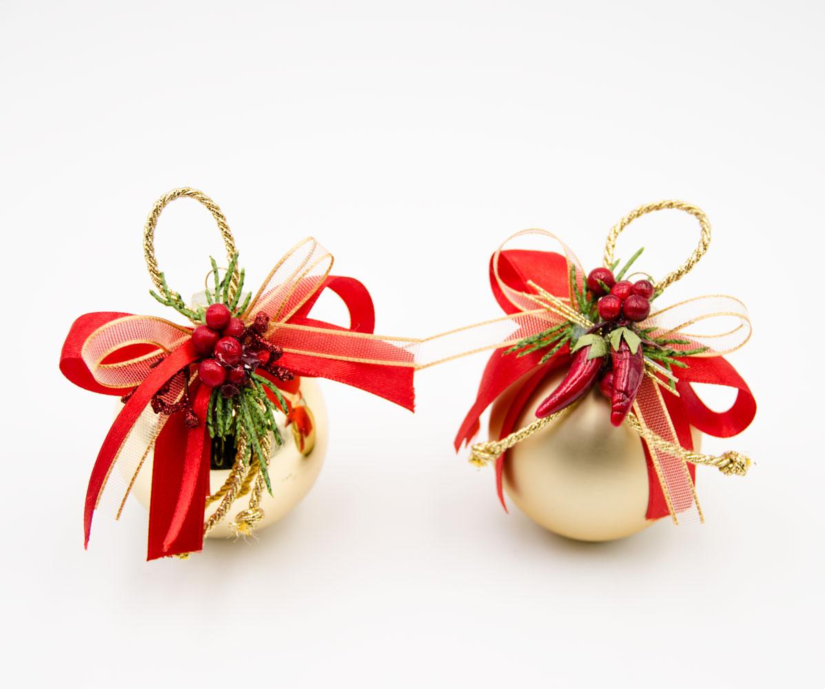 Immagini Palline Natalizie.Coppia Di Palline Per Albero Di Natale In Vetro Oro Con Fiocchi Creazioni Floreali Addobbi Eventi Tonino Fiori Artificiali