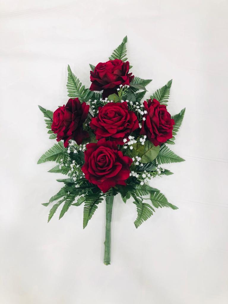 mazzo di rose in velluto