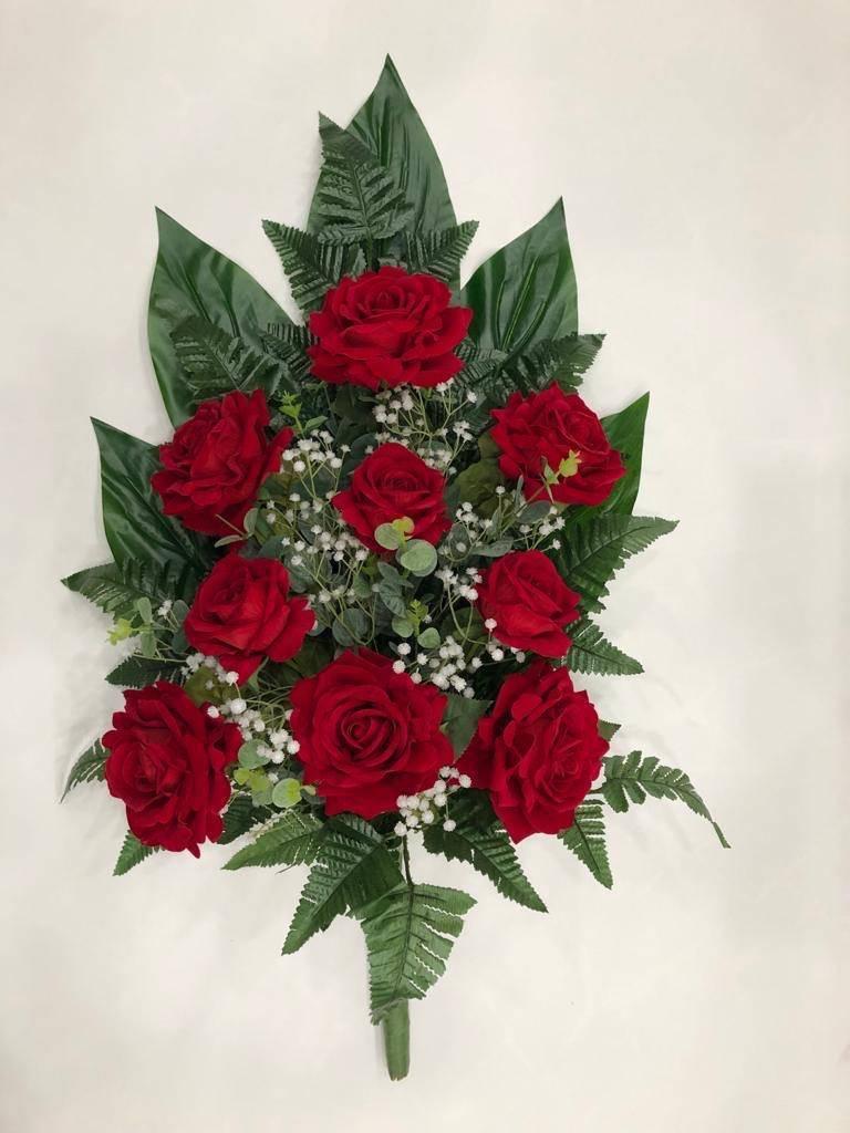 Fascio di rose in velluto