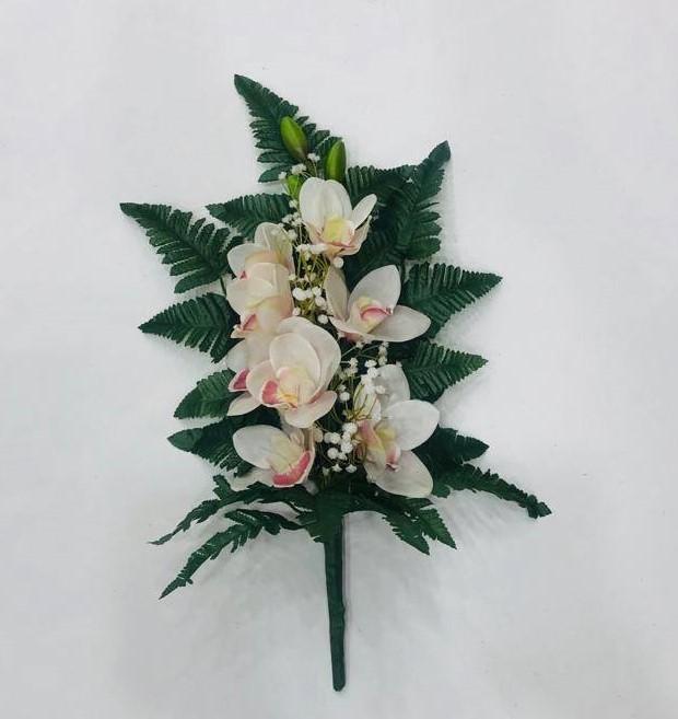 orchidea crema silicone mazzo fiori per cimiteri